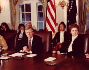 Sarah Weddington with president Jimmy Carter. She served as his assistant from 1978 to 1981.
