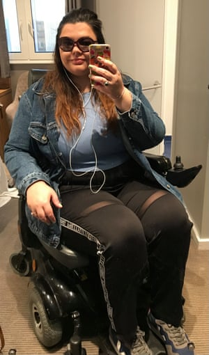 Hollie-Anne Brooks on her way to her first week of treatment