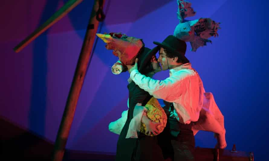 Floating reverie … Audrey Brisson and Marc Antolin as Bella and Marc Chagall in rehearsals for The Flying Lovers of Vitebsk.