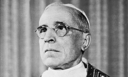 Pope Pius XII at the Vatican in 1955.