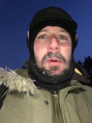 A self portrait in sub-zero temperatures.