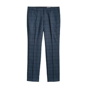 black and dark blue checked trousers H&M