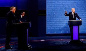 Donald Trump and Democratic presidential nominee Joe Biden participate in the first presidential campaign debate.