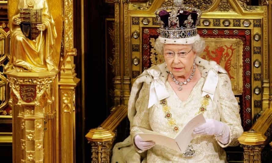 The Queen delivering her 2009 speech