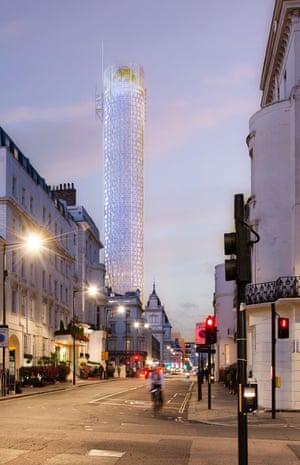 Artist's impression of the proposed tower block at 31 London Street, Paddington.