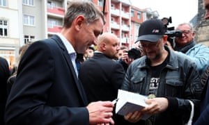 The AfD has gained much support from people who felt they were left behind by East Germany's transition from communism after the fall of the Berlin Wall.