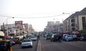 A main road in the town of Zaria, where the clashes occurred.