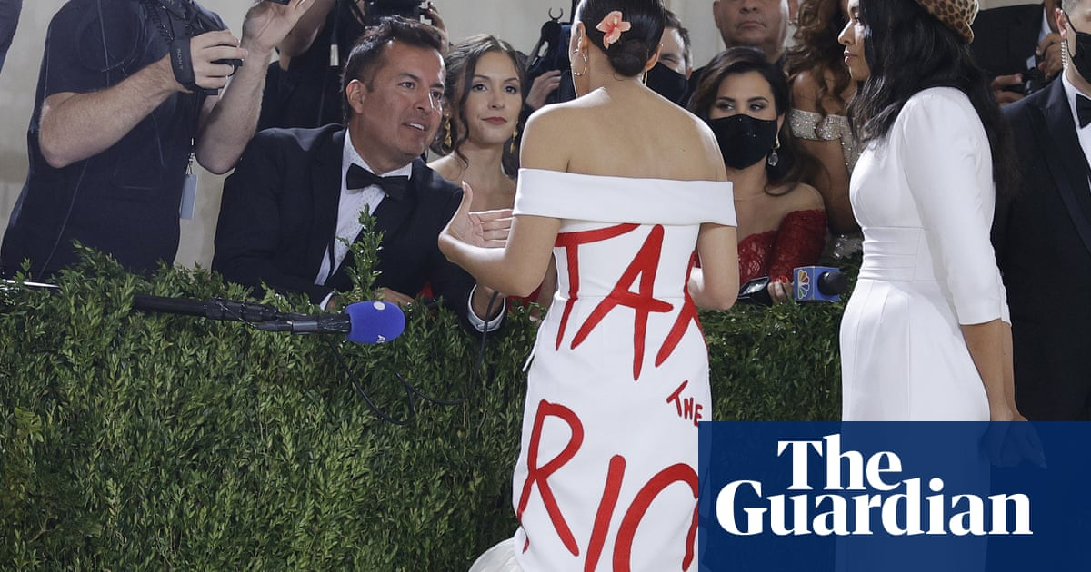 'Medium is the message': AOC defends 'tax the rich' dress worn to Met Gala
