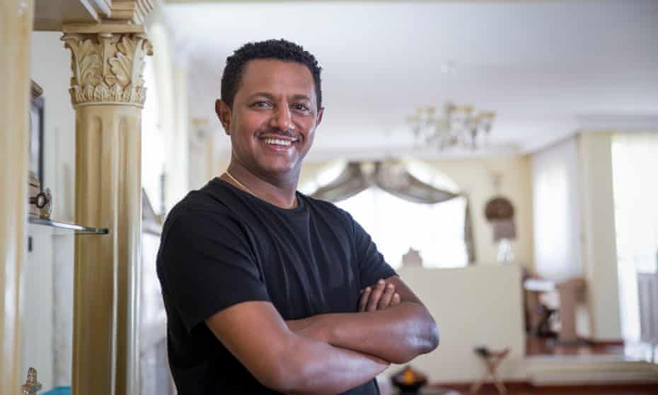 Teddy Afro … somewhat unintentionally, a flag-waver for the Ethiopian opposition.