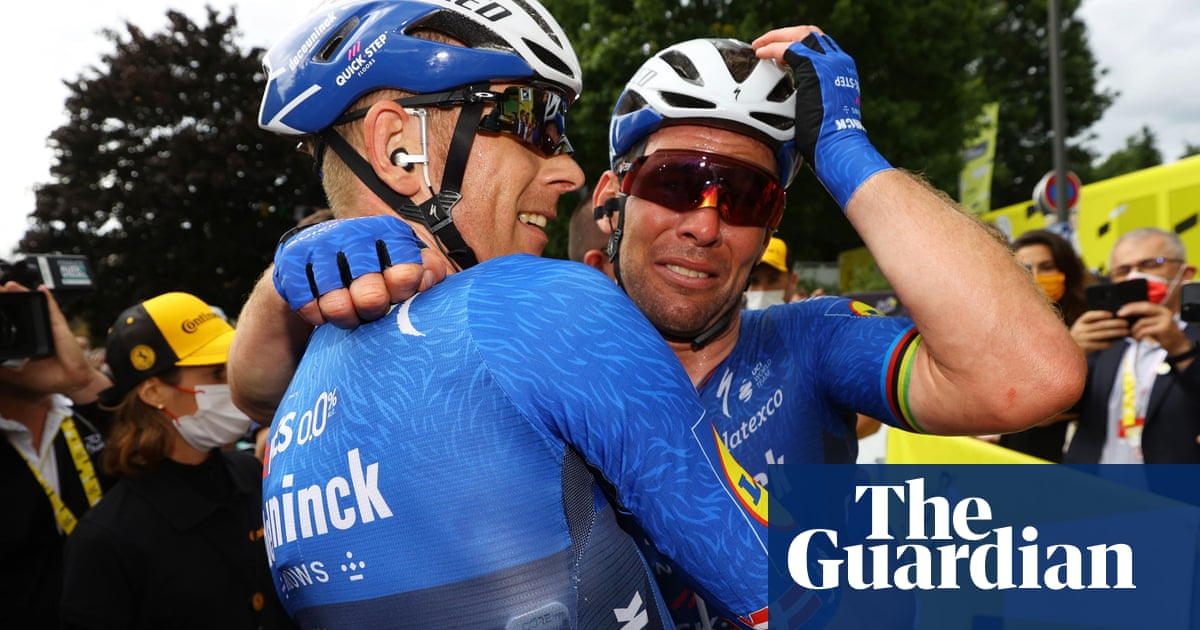 Mark Cavendish cements comeback with emotional win at Tour de France