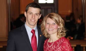 Stephanie Chatfield with her husband, Republican state representative Lee Chatfield.
