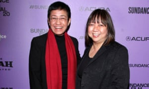 Maria Ressa and Ramona S Diaz attends the premiere of A Thousand Cuts during the 2020 Sundance film festival.