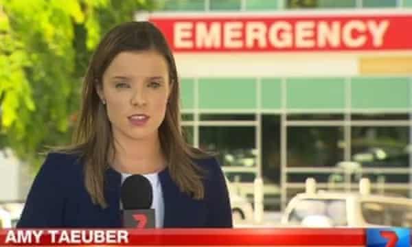 Channel Seven journalist Amy Taeuber.