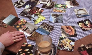 Cards on table at Marie Curie Life Cafe