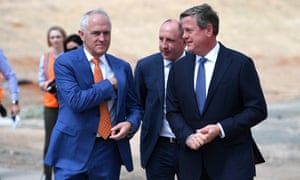 Malcolm Turnbull, Luke Howarth and the Queensland LNP leader, Tim Nicholls