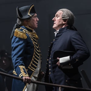 Alan Oke as Captain Vere and Alastair Mile as Claggart.