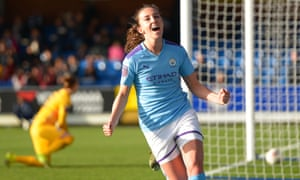 Caroline Weir, pictured scoring for Manchester City against Chelsea