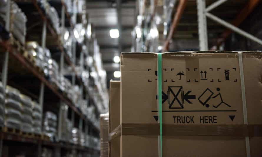 Goods stored in a warehouse