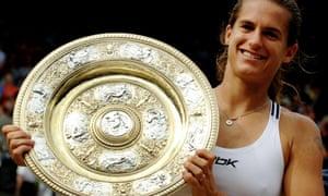 Amelie Mauresmo after winning Wimbledon in 2006.