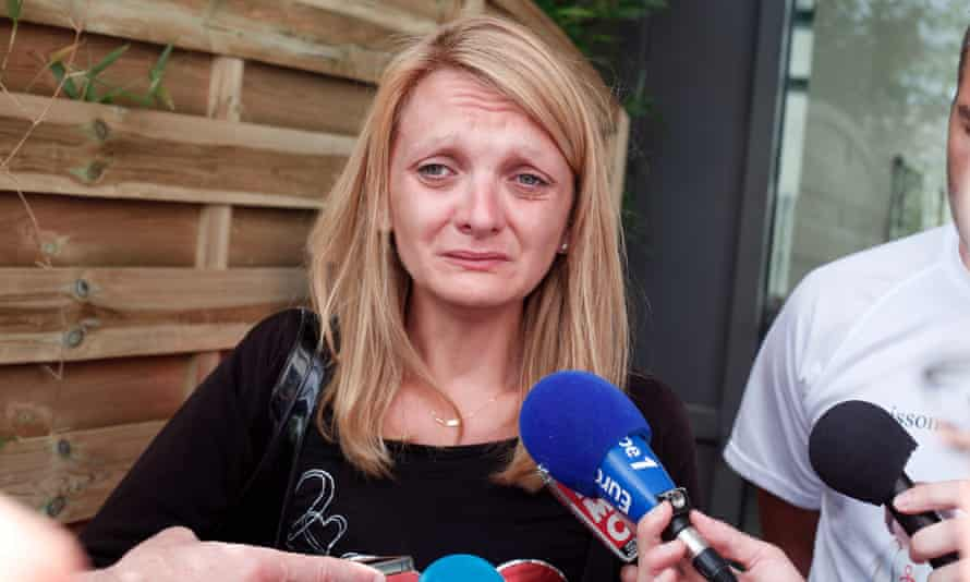 Vincent Lambert's wife after the hearing.