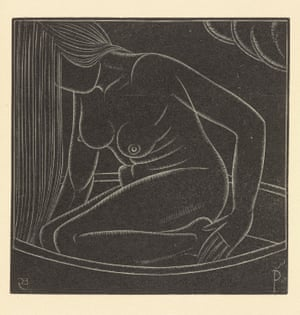Eric Gill's Girl in Bath II, 1923 – the model for which was his daughter Petra.