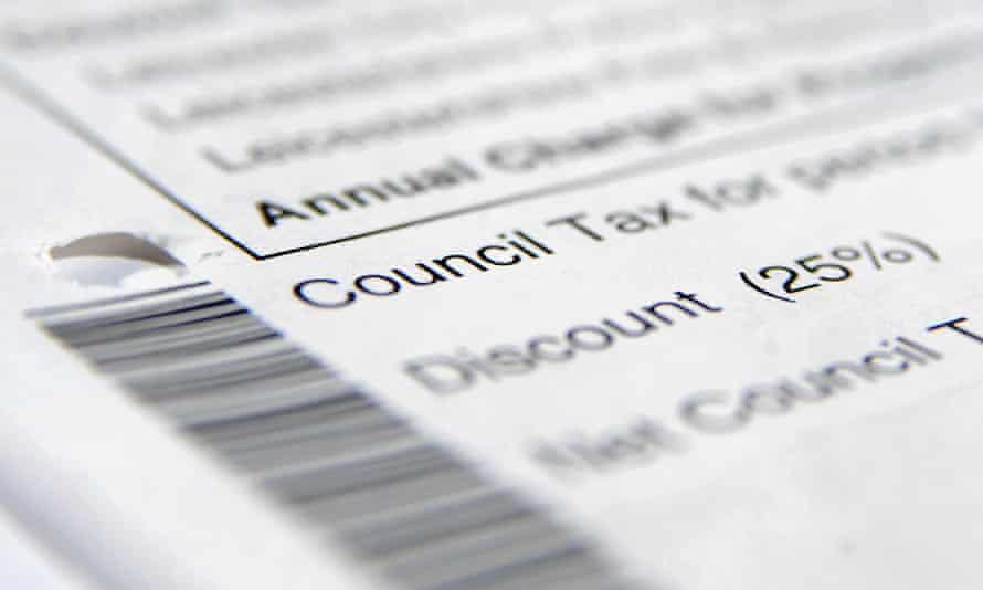 A council tax bill