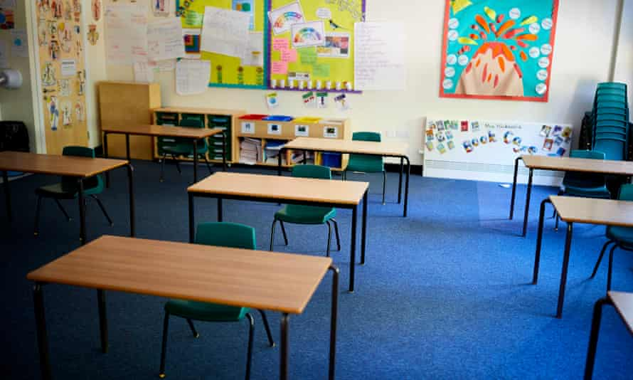 A reconfigured classroom at a primary school in Northwich, Cheshire