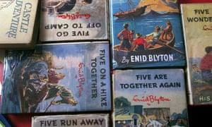 Tableau of Enid Blyton Famous Five books