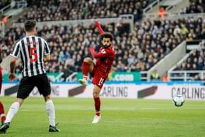 Salah puts Liverpool back in front.