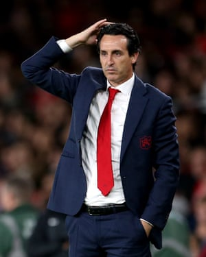 Unai Emery was sacked by Arsenal in November.