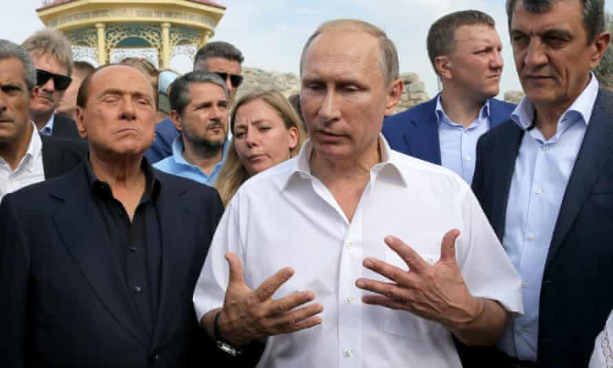 Berlusconi and Putin visit the national preserve of Tauric Chersoneso in Crimea, earlier this week.
