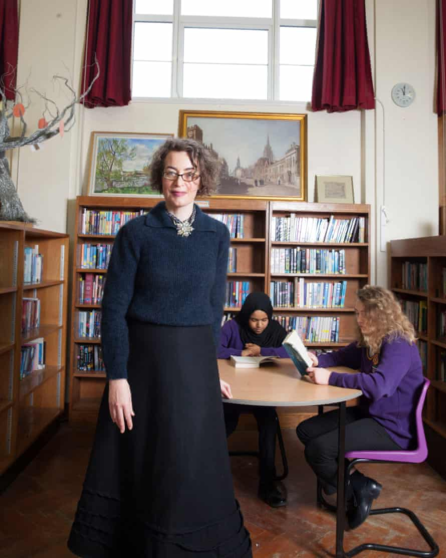 Kate Clanchy at Oxford Spires Academy, Oxford.