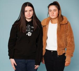 Students Emer Ryan (on left) and Isobel Cooper