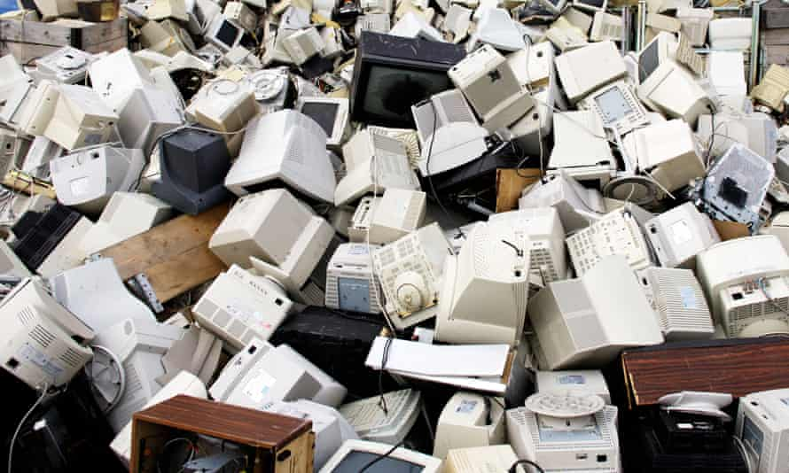 Recycling plant, tellies and monitors, Norway
