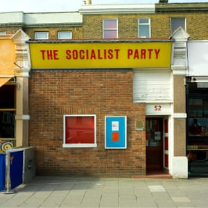 Clapham - Right in the middle of one of London's busiest thoroughfares, Clapham High Street, is the headquarters of the Socialist Party. This austere frontage became a source of amusement to locals and in turn led to a more friendly glass frontage being erected several years ago