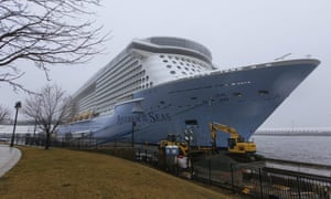 The cruise ship Anthem of the Seas is docked at the Cape Liberty Cruise Port on Friday in Bayonne, New Jersey.