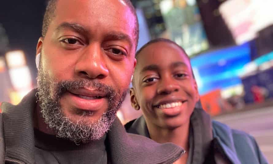 'He's my emotional opposite …' Mitchell S Jackson and his son.