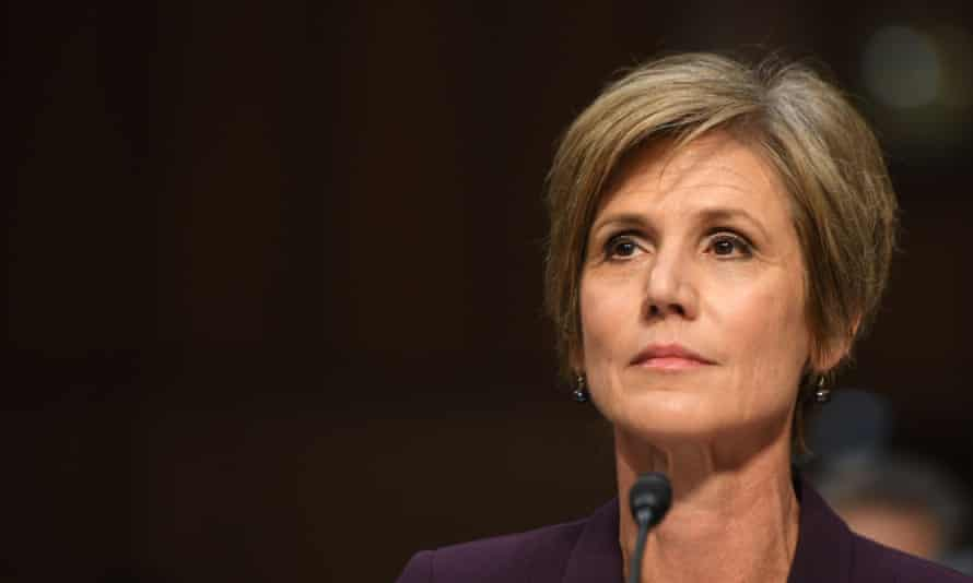 Yates said of Flynn: 'Whether he's fired or not is a decision for the president. But it doesn't seem like that's a person who should be sitting in the national security adviser position.'