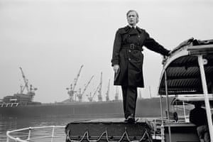 Michael Caine on the set of Get Carter, 1970