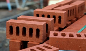Pile of bricks on a housing site