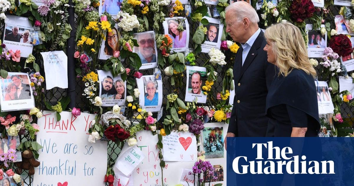Joe Biden comforts 'amazing, resilient' families at site of Miami condo collapse