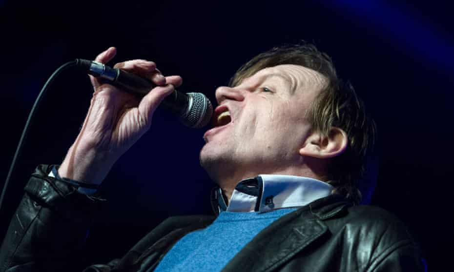 Mark E Smith of The Fall performs in Birmingham earlier this year