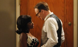 A dash of tenderness … Harris with Naturi Naughton in Mad Men.