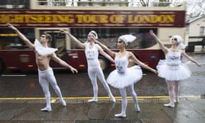 Ballet troupe protest