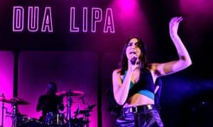 A coolly minimal stage show: Dua Lipa.