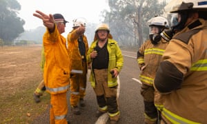 Firefighters near blazes at Lake Cooroibah Road and Jirrimah Crescent in Cooroibah in Noosa shire, Queensland