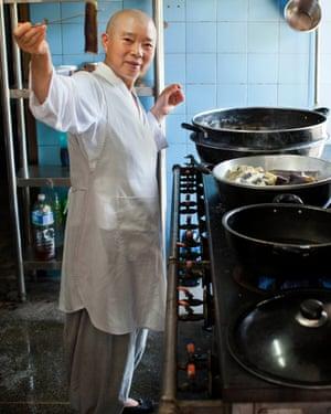 Broad range: Kwan in the kitchen.