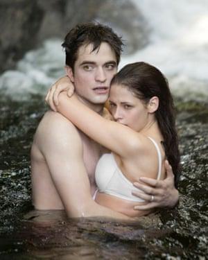 Stewart with Robert Pattinson in Twilight Saga: Breaking Dawn Part 1