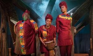 Juliet Okotie, Sapphire Joy and Afia Abusham in Anansi the Spider.