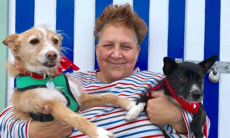 Sarah Middleton-Lee with her dogs, Bandit and Little.